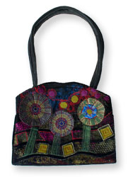 Hand Bag With Hunterwasser Pattern Design.