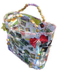 Open Studios Bag Made Of Plastic, Catalogues, Acetate & Scooby Doo Plastic.