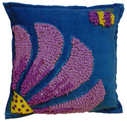 Hooked Textile Cushion From The Bee Kind Range Design 1.