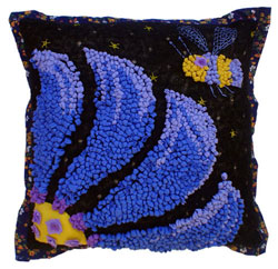 Hooked Textile Cushion From The Bee Kind Range Design 2.