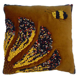 Hooked Textile Cushion From The Bee Kind Range Design 4.