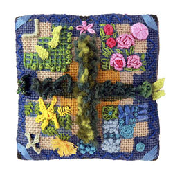 Textile Miniature Garden Pin Cushion.