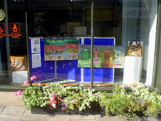Lee's Work Displayed in Stroud Town Council Shop Window.