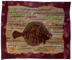 Hooked Rug Wall Hanging Titled A Plaice In Thyme.