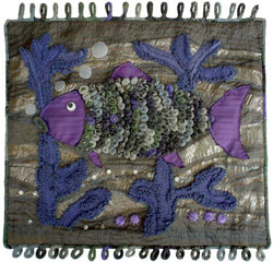 Hooked Rug Wall Hanging Titled Looking For The Hook.