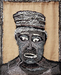 Hooked Rug Wall Hanging Titled Winchcombe Man.